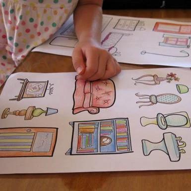 Как сделать комод для куклы из бумаги