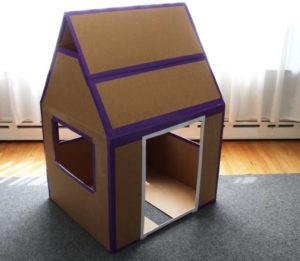 Дом из картонных коробок