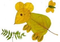Игрушки для досуга. Картины из осенних листьев (35)