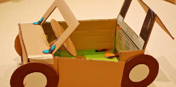 Поделки из картона своими руками видео мастер класс