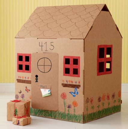 Как своими руками сделать домик из картона