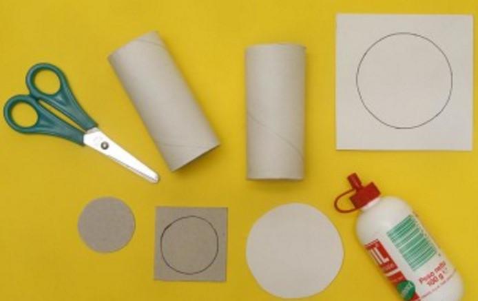 Поделки из туалетной бумаги и клея