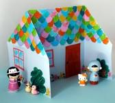 Как сделать домик из бумаги (1)