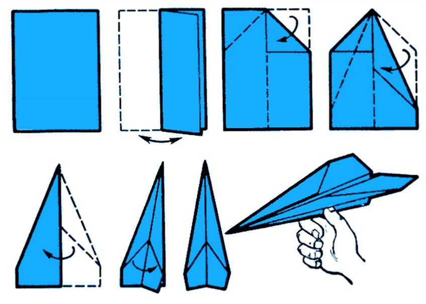 Как делать из бумаги самолет своими руками 146