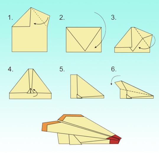 Как сделать самолет из бумаги чтобы далеко летал истребитель