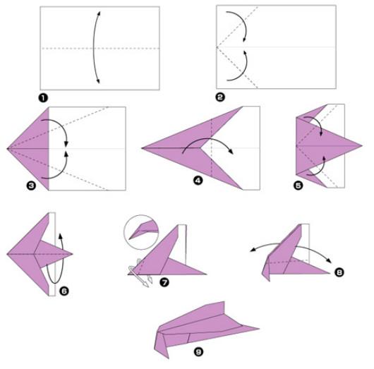 Как детям сделать самолетик из бумаги