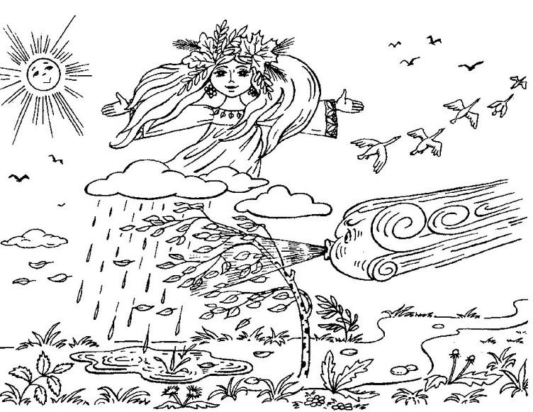 Картинки осенний ветер для детей