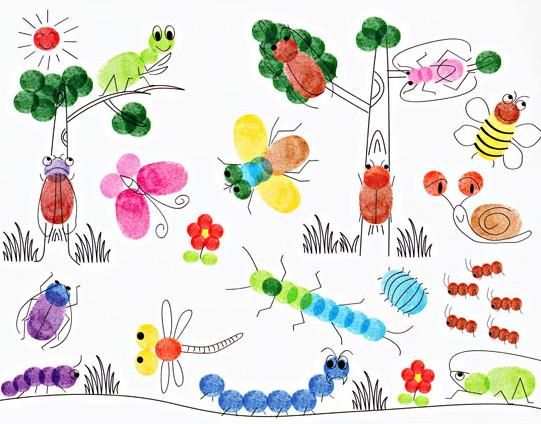 Рисунок из пальчиковых красок