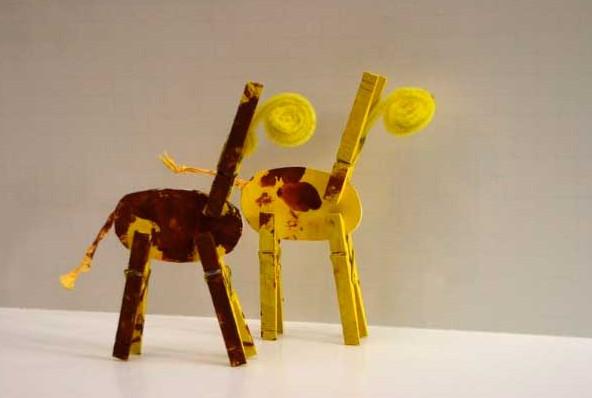 Жираф для поделок из бумаги 48