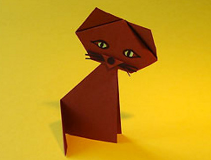 Оригами животные для детей. Интересные поделки из цветной бумаги.