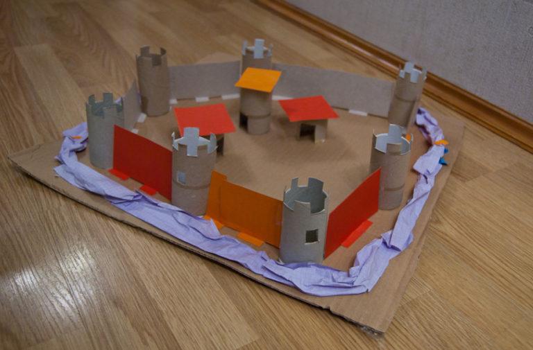 Как сделать замок из бумаги своими руками видео
