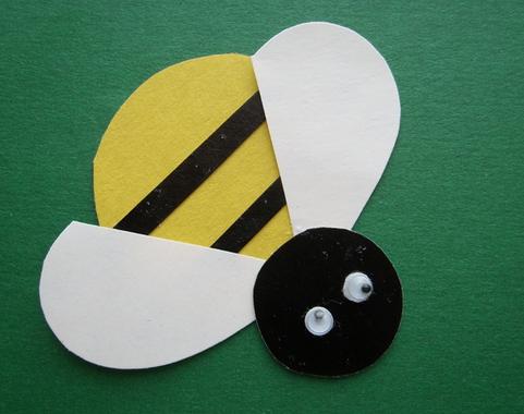 Шаблон к аппликации пчелка