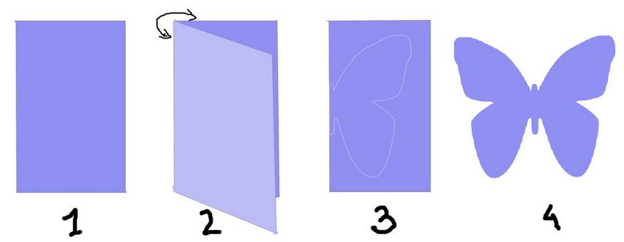 Бабочка объемная из бумаги