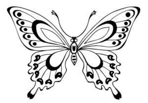 Бабочки из бумаги своими руками (34)