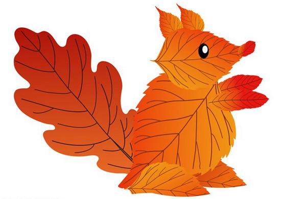 Поделки из листьев своими руками для детей и взрослых. Поделки 63