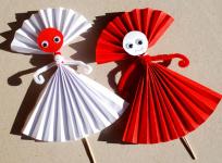 Поделки из бумаги сложенной гармошкой для детей (22)