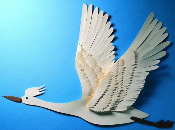 Бумажные птички из бумаги