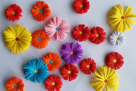 Объемные с цветами из бумаги