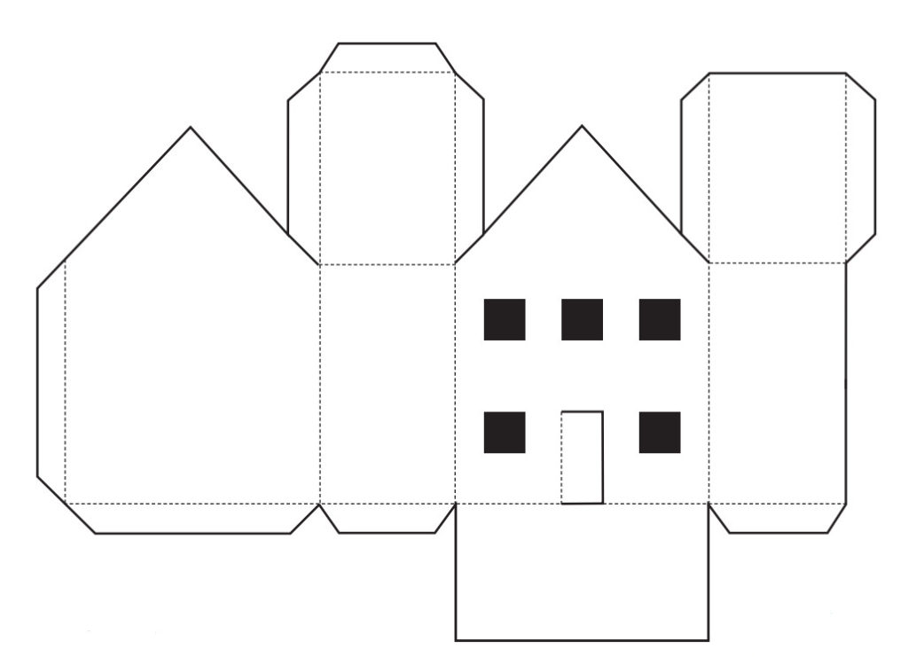 Как сделать здание из бумаги своими руками 62