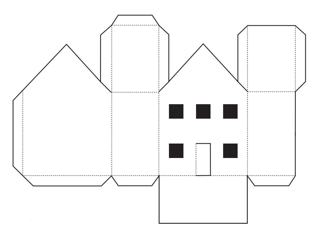 Легкий дом из бумаги своими руками