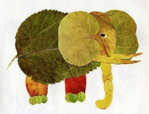 Аппликации из осенних листьев