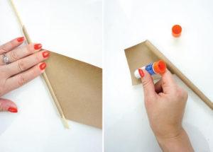 Как из бумажных трубочек сплдести корзинку (3)