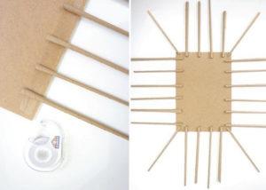 Как из бумажных трубочек сплдести корзинку (4)