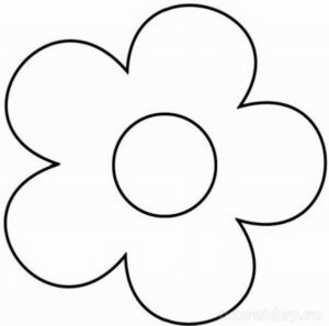 Шаблоны цветов для вырезания (1)