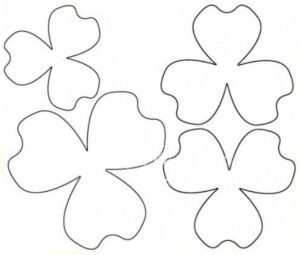 Шаблоны цветов для вырезания (14)
