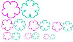 Шаблоны цветов для вырезания (19)