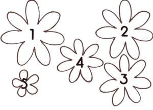 Шаблоны цветов для вырезания (2)