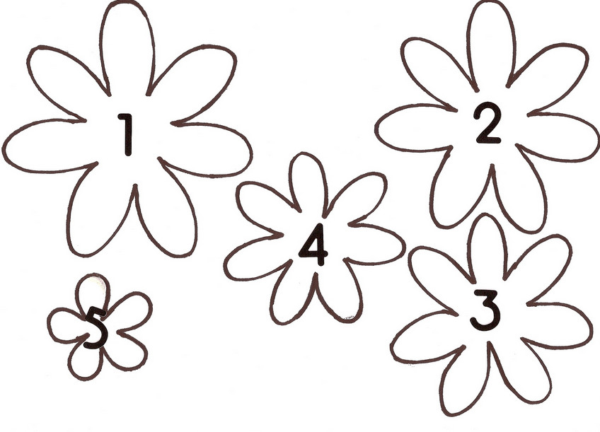 Шаблон цветка для вырезания из бумаги распечатать