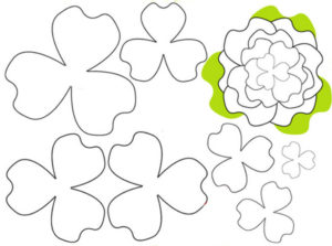 Шаблоны цветов для вырезания (21)