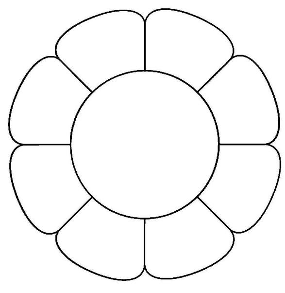 Шаблоны цветов для вырезания (22)