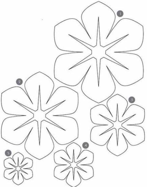 Шаблоны объёмные цветы из бумаги