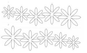 Шаблоны цветов для вырезания (25)