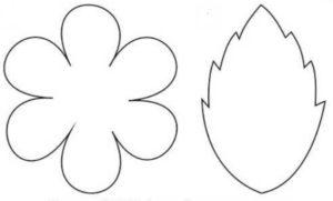 Шаблоны цветов для вырезания (30)