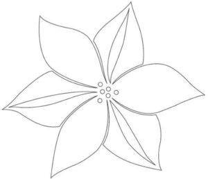 Шаблоны цветов для вырезания (33)