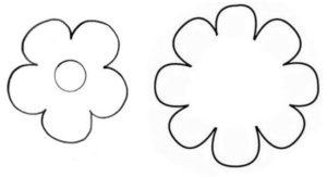 Шаблоны цветов для вырезания (34)