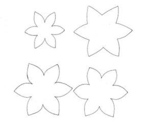 Шаблоны цветов для вырезания (36)