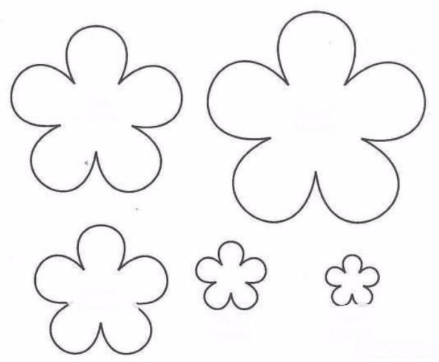 Цветы из бумаги своими руками шаблоны 692