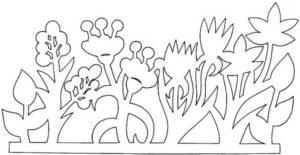Шаблоны цветов для вырезания (39)