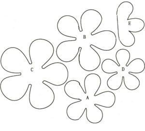 Шаблоны цветов для вырезания (4)