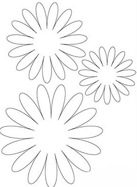 Шаблоны цветов для вырезания (5)