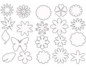 Шаблоны цветов для вырезания (7)