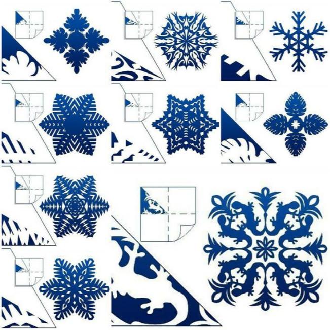 Как делают снежинки из бумаги своими руками шары 63