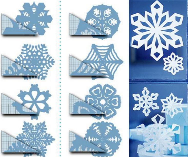 Схемы вырезания снежинок из бумаги своими руками фото 701