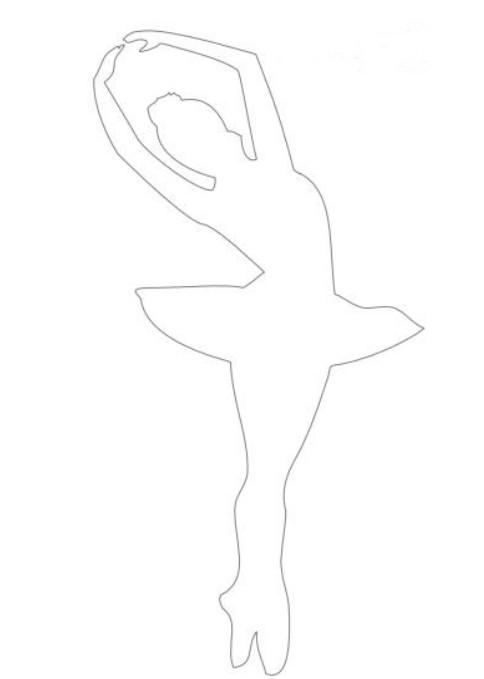 Балеринка из бумаги (2)