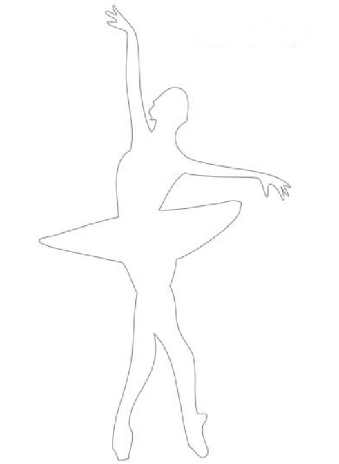 Балеринка из бумаги (3)