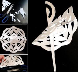 Балеринка из бумаги (8)